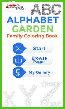 Adult Coloring Books: Alphabet poster