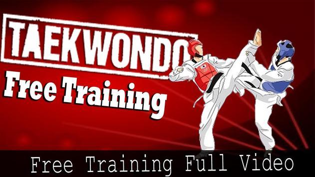 Taekwondo free training poster