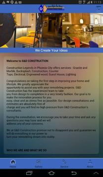 G&D Construction apk screenshot