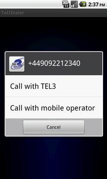TEL3Dialer apk screenshot