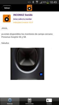 INCOMAZ Sonido apk screenshot