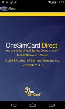 OneSimCard Direct apk screenshot