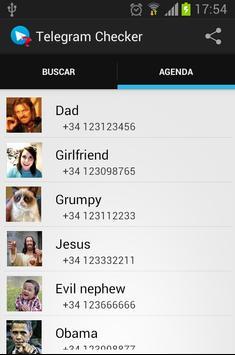 Telegram Checker apk screenshot