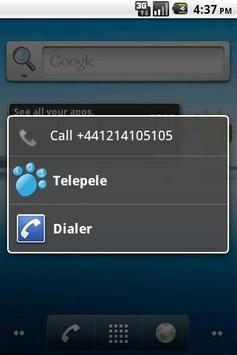 Telepele Latvia - free calls poster