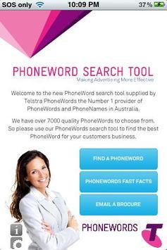 Telstra PhoneWords poster