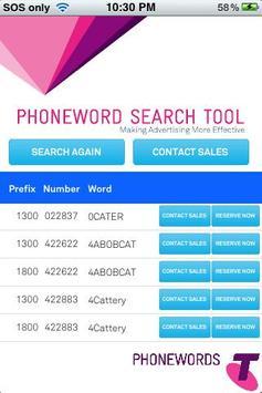 Telstra PhoneWords apk screenshot