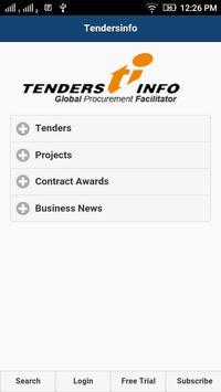 Tenders App from Tendersinfo poster