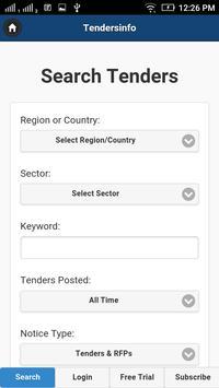 Tenders App from Tendersinfo apk screenshot