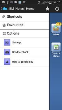 notes launcher (lotus notes) apk screenshot