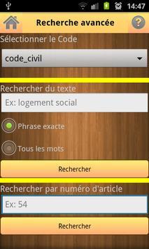 Code Civil et Pénal apk screenshot