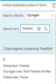 German Licence Plate Codes apk screenshot