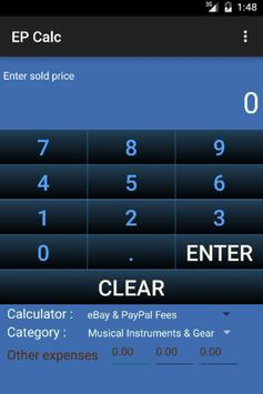 Calculator for eBay fee apk screenshot