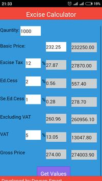 Excise Calculator apk screenshot