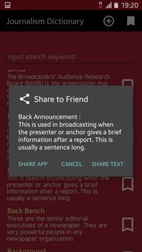 Journalism Dictionary apk screenshot