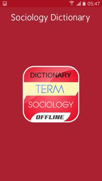 Sociology Dictionary poster