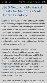 Guide for Lego Nexo Knights. poster