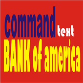 text commands bank of america icon