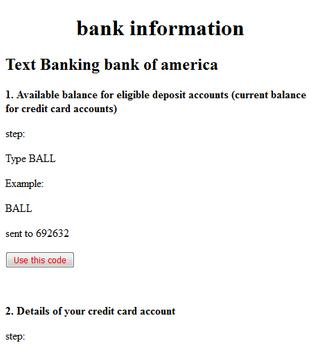 text commands bank of america poster