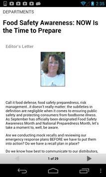 Food Safety Magazine apk screenshot