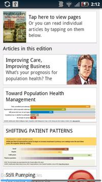 HealthLeaders Magazine apk screenshot