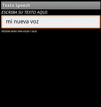 Textohablado apk screenshot