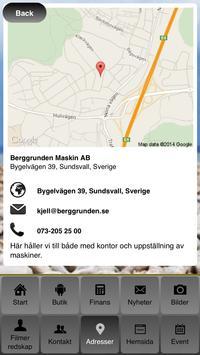 Berggrunden maskin AB apk screenshot
