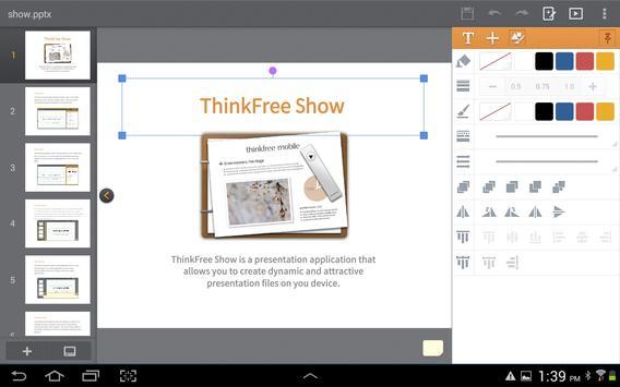 ThinkFree Mobile for Alphascan apk screenshot
