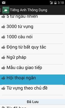 Tiếng anh thông dụng hàng ngày apk screenshot