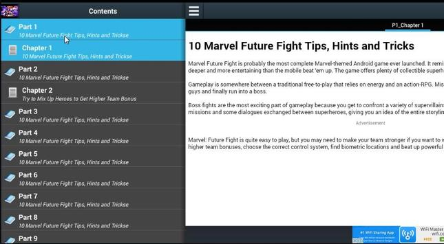 Tips 10 Marvel Future Fight apk screenshot