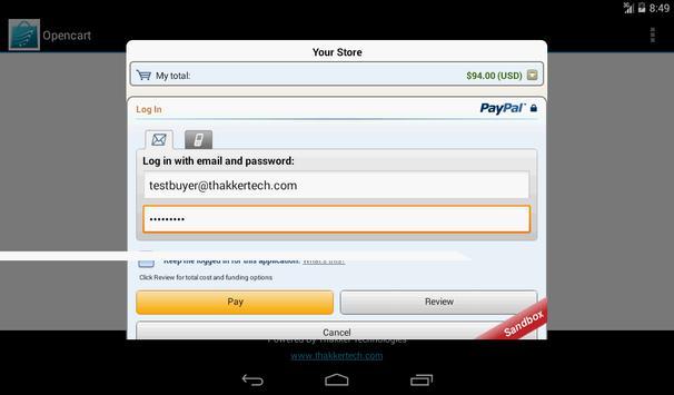 OpenCart-Native Android Store apk screenshot