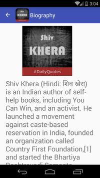 Shiv Khera Quotes apk screenshot
