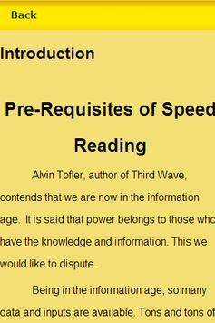 Speed Reading Guide apk screenshot