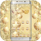 Gold Snow Ball Theme icon