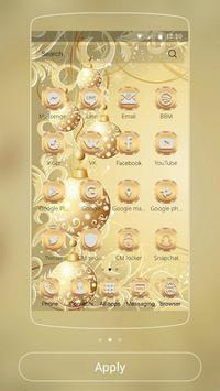Gold Snow Ball Theme apk screenshot