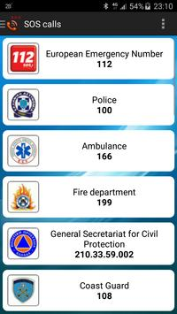 Greece Emergency telephones apk screenshot