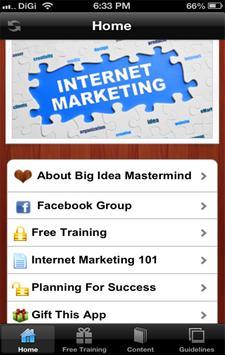 Big Idea Mastermind App for IM poster