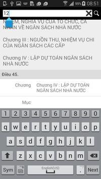 NGAN SACH NHA NUOC apk screenshot