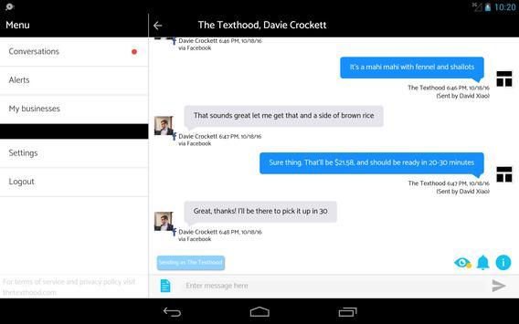 The Texthood apk screenshot