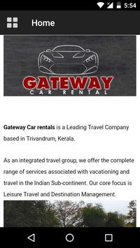 GATEWAY CAR RENTALS TVM apk screenshot