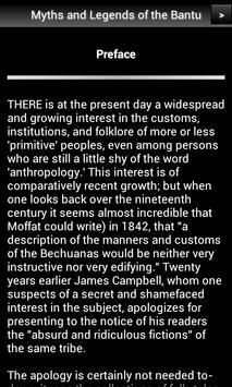 Myths and Legends of the Bantu apk screenshot