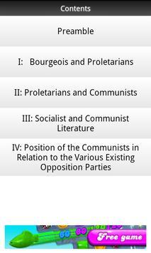 Marx Communist Manifesto FREE apk screenshot
