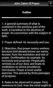 John Calvin Of Prayer FREE apk screenshot