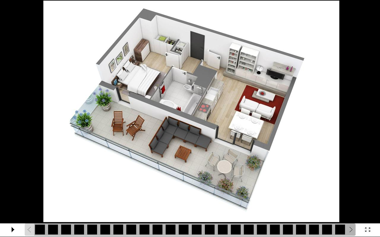 3d house design apk download free lifestyle app for for Planos de casas 3d