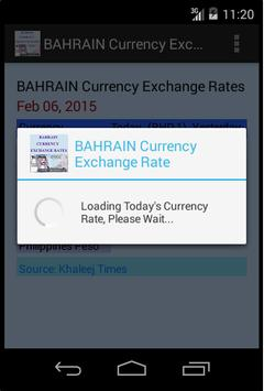 BAHRAIN Currency Exchange Rate poster