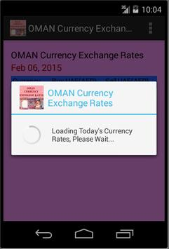 OMAN Currency Exchange Rates poster
