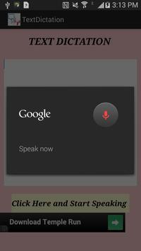 TextDictation apk screenshot