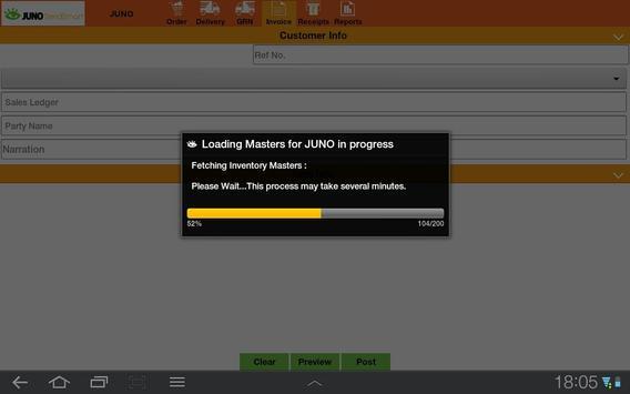 Juno -Data Entry to Tally ERP9 apk screenshot