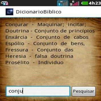 Dicionário Bíblico apk screenshot
