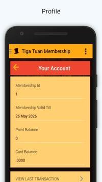 Tiga Tuan Membership apk screenshot
