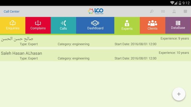 Call Center Demo apk screenshot